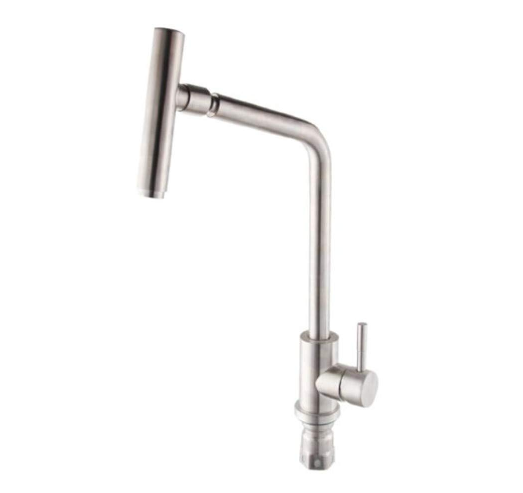 Waschtischarmatur Spültisch Badarmatur Kupfer 304 Edelstahl Wasserhahn Bleifreie Küche Waschen Topf Kalt Und Warmwasser Wasserhahn Drehen