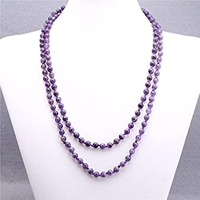 multistrand necklace beaded Purple crystal necklace long purple necklace statement necklace for women,ooak. magnetic clasp necklace