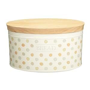 Kitchen Craft Classic Collection - Panera de cerámica con tapa de madera