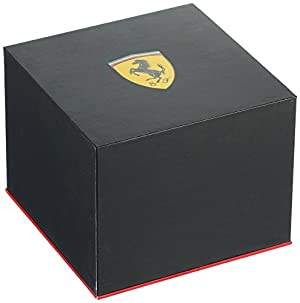 Scuderia Ferrari Men's 'XX Kers' Quartz Stainless Steel and Silicone Casual Watch, Color:Black (Model: 0830310)