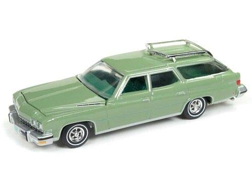 Buick Station Wagon - Auto World New 1: 64 Muscle Wagons USA 2018 Collection - 1974 Estate Wagon Ranch Green Diecast Model Car
