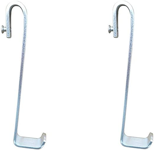 Simtive Shower Door Hooks Shower Squeegee Hooks Over Door Hooks for Bathroom Glass Shower Door 2-Pack