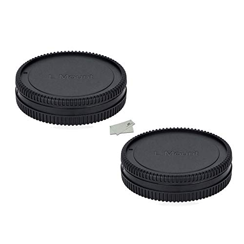 (2 Packs) Body Cap and Rear Lens Cap Kit for Leica L Mount Cameras and Leica L Mount Lens, fit Panasonic S1 S1R S1H DC…