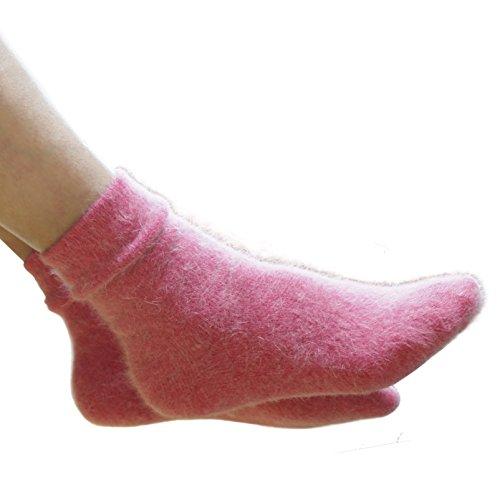 Walkon Women's Angora Pure Socks - In Gift Bag  Walkon Brand ,Pink (2pair),5-9