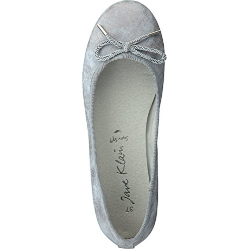 Jane Klain Zapatos Mujer Bailarinas 221-070 EN 2 Colores con Elemento de Amarre Azul