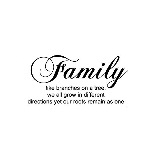 Family Like Branches on a Tree,we All Grow in Different Directions Yet Our Roots Remain As One Wall Saying Wall Decal Removable Wall Sticker for Home Decor