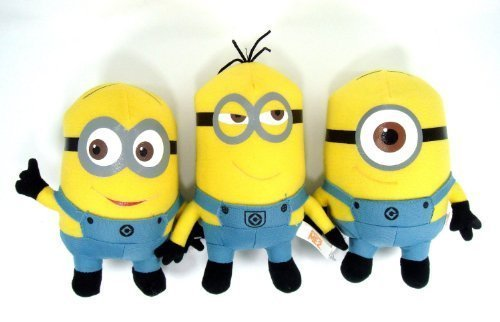 Despicable Me 2 Minions 6 Plush Doll Set Featuring Stuart, Dave and Tim ()