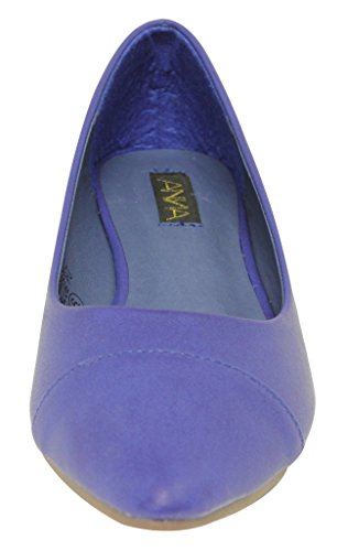 suede slip bow knot oxford on 39 Anna Blue pleated boat flat Lily Womens loafer shoes xwY7Yqg1
