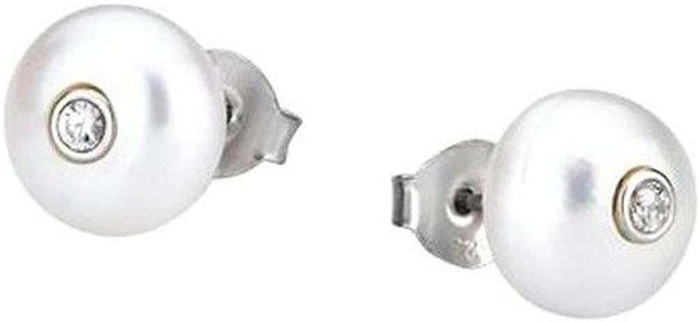 Pendientes Lotus Silver PURE ESSENTIAL LP1279-4/1 plata de ley y perlas