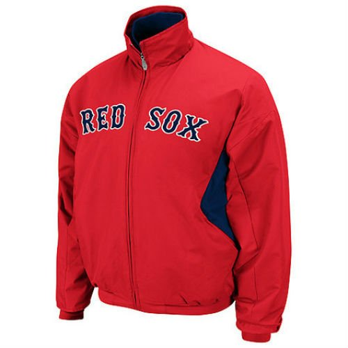 Boston Red Sox 4X-Large 4XL Majestic Red Therma Base Premier Dugout Jacket XXXXL (Therma Red Sox Base)