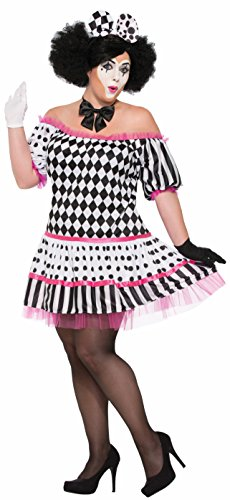Harlequin Plus Size Costumes (Forum Women's Harlequin Clown Tiers Dress Costume, As Shown, Plus)