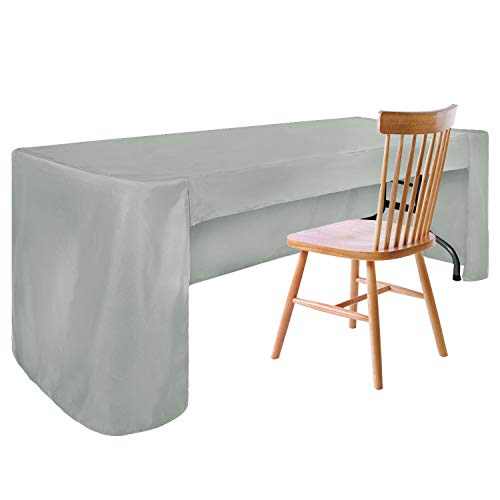 ABCCANOPY 6 FT Rectangle Tablecloth Table Cover for Rectangular Tables in Washable Polyester-Great for Buffet Table Parties Holiday Dinner, Wedding & More Gray