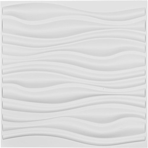 Ekena Millwork WP20X20LEWH Leandros Design Decorative 3D Wall Panel White