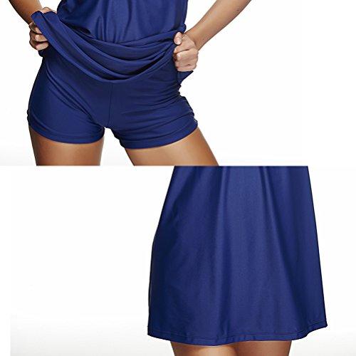 Zhhlaixing Women's Built-in cup Swimdress Fashion Swimsuit Nadando Costume Dark Blue