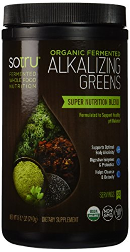 Powder Alkalizing (SoTru Fermented Alkalizing Greens Supplement, 240 Gram)