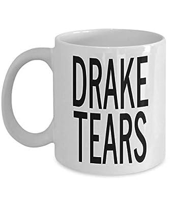 MyFaveGift Drizzy Drake Tears 11oz Ceramic Coffee Mug Cup Funny Gift Idea