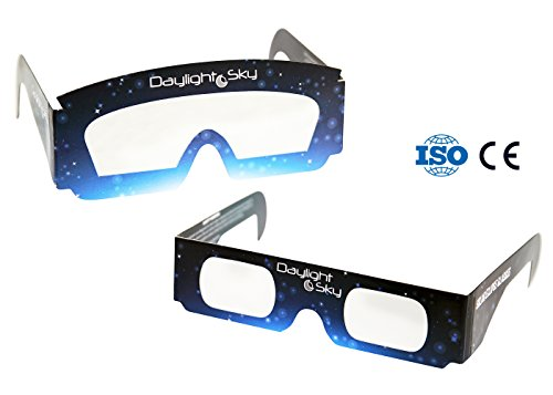 Solar Eclipse Glasses | CE and ISO Tested | Safe Solar Viewing | Flexible Paper Glasses | Family Size Pack [Protect Your Eyes]