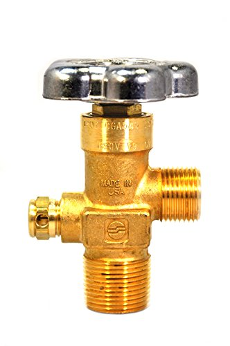 Sherwood Global Valve   CGA 540 Outlet   4000 PSI Type CG-1 PRD   Heavy Duty Forged Brass Body   for Compressed Gas Services   GV O-Ring Style Cylinder Valves ()
