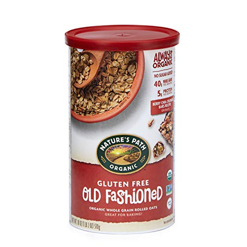 (Nature's Path Gluten-Free Whole Rolled Oats, Healthy, Organic & Sugar Free, 1 Canister, 18 Ounces (Pack of 6))