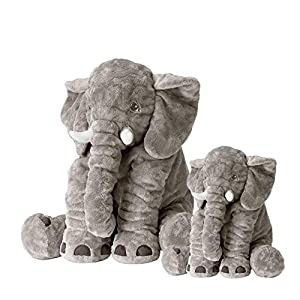 "Soft Elephant Plush Toys,Set of 2 Toys (Large 24"",Small 15.7""),PP Cotton Stuffed Animal Plush Doll,Safe and Non-Allergic Material,Machine Washable"