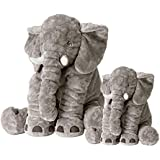 """Soft Elephant Plush Toys,Set of 2 Toys (Large 24"""",Small 15.7""""),PP Cotton Stuffed Animal Plush Doll,Safe and Non-Allergic Material,Machine Washable"""