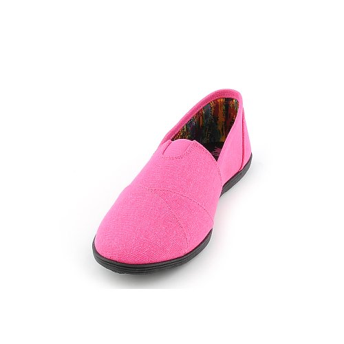 Shiekh Womens Object-s Casual Flat Pink Neon