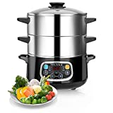 Best Electric Food Steamers - Secura Electric Food Steamer, Vegetable Steamer Double Tiered Review