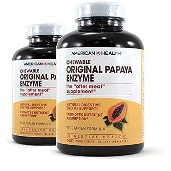 Amazon.com: Sundown Naturals Papaya Enzyme, 100 Chewable Tablets ...