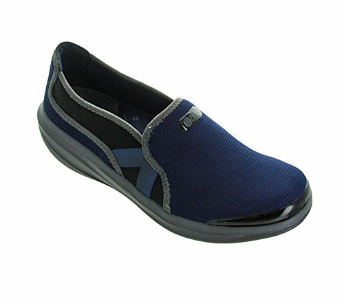 Bzees Womens Cruise Slip-on,Navy Fabric, 9M For Sale