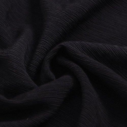Paule VJGOAL LaChe Manches Soie en Hors Mousseline De Femmes Shirt Sexy Tops T Blouse Automne De Soie Longues Casual Mousseline Noir Tops en aPfqwa