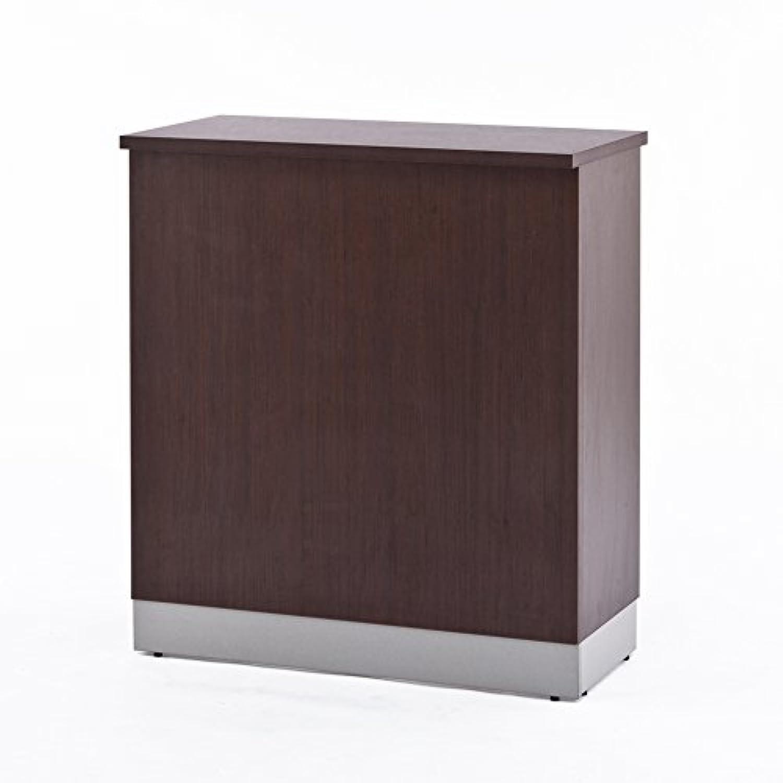丈夫なスチールハイカウンター HC-1245-NA 幅1200 ナチュラル木目 カウンター裏デスク?棚板オプションあり