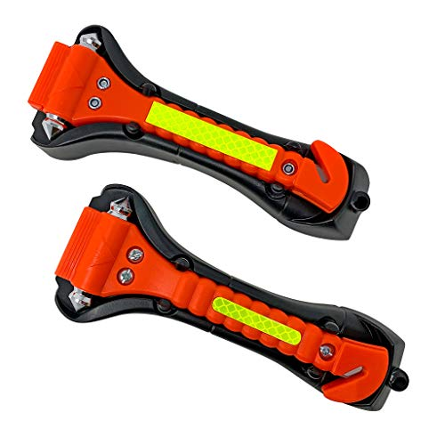 Segomo Tools 2 x Emergency Escape Safety Hammers with Car