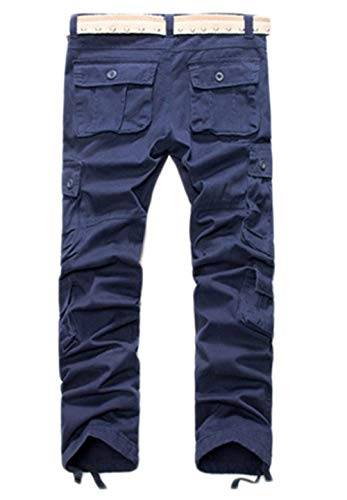 Pantaloni Lavoro Big Culotte Casual Tempo Uomo Autunno Multi Da Boot En Saoye Per Ssen Fashion Libero Cut Giovane Marineblau Tasche Il w5IBqqt