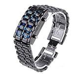 Volcanic Lava Iron Samurai Metal LED Faceless Bracelet Wrist Watch Men/Women