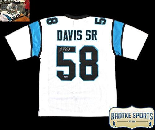 Thomas Davis Autographed/Signed Carolina Panthers White Custom Jersey