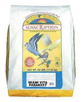 Sun Seed Company BSS14453 Miami Vita Mix Parakeet Food, 25-Pound by Sun Seed