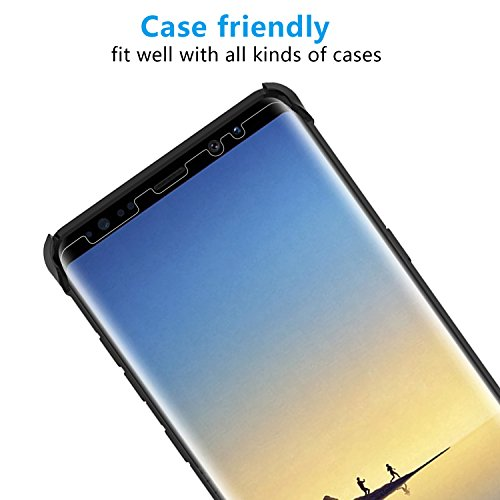 Cubevit Galaxy Note 8 Screen Protector, [2 Pack] [Case Friendly] [Full Coverage] [Bubble Free] [Easy to Install] HD Clear Wet Applied TPU Film Screen Protector for Samsung Galaxy Note 8 2017