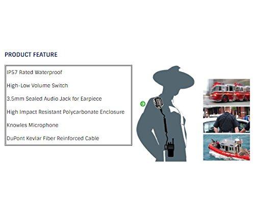 ARC S18026 Heavy Duty Waterproof IP57 Speaker Mic for Harris (MA/COM) P Series & XG Series Two Way Radios (See List)