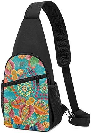 ボディ肩掛け 斜め掛け 着物 花柄 ショルダーバッグ ワンショルダーバッグ メンズ 軽量 大容量 多機能レジャーバックパック