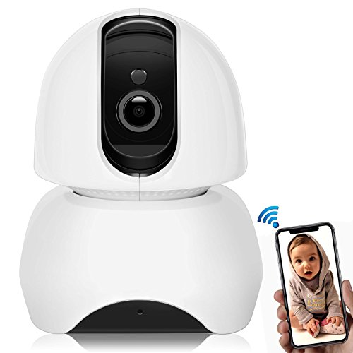 1080P Video Baby Monitor, Big SS Wireless 2.4G WiFi Security IP Camera with Two-Way Audio, Night Vision, Pan/Tilt/Rotate, Motion Detection, Remote View & Playback on iOS/Android