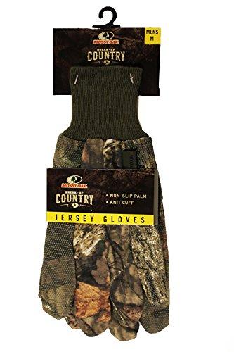 MOSSY OAK BREAK-UP COUNTRY MENS JERSEY GLOVES - Oak Gloves Lightweight Mossy