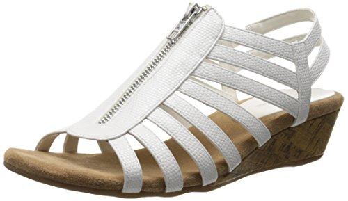 White Aerosoles femme Yetaway Sandal A2 Snake la Wedge de Bwq0xgtwCZ