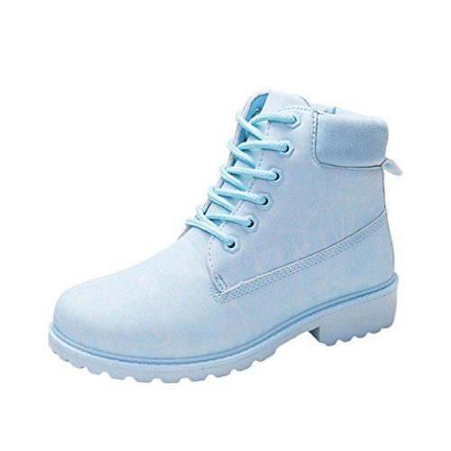 Sikye Ladies Ankle Boots,Women Winter Keep Warm Casual Martin Shoes Outdoor Blue