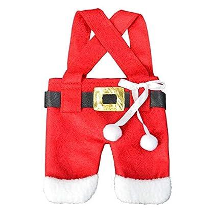 Envio Gratis - Navidad 2017 Envio Gratis Christmas Decorations Santa Clothes Pants Cutlery Bag Covers Holder