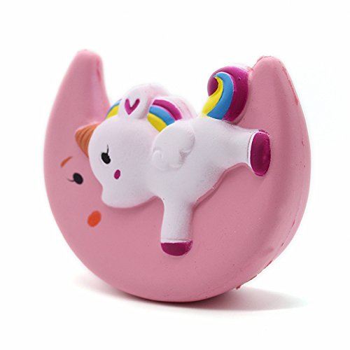 PU Moon Unicorn Animal Cartoon Design Squish Antistress Toys Kawaii Cute Squishy Slow Rising Soft Funny Squeeze Fun Toy for Kids