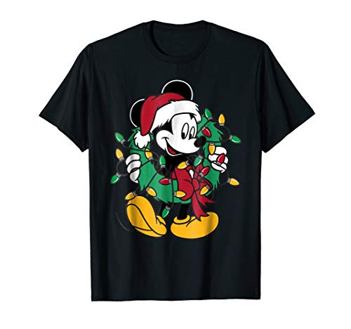 Mickey Mouse Christmas Lights T-Shirt
