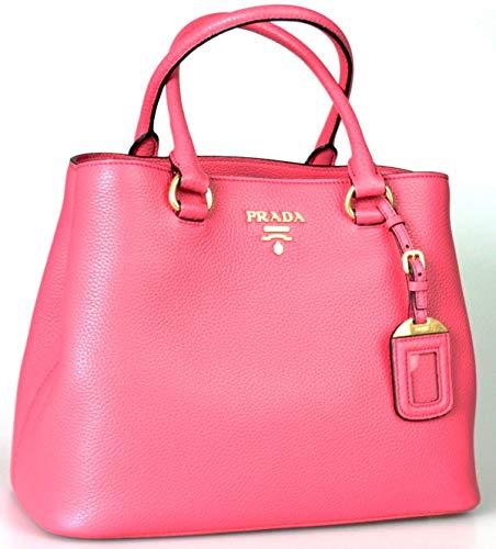 Prada Women's 1BA058 Black Leather Shoulder Bag