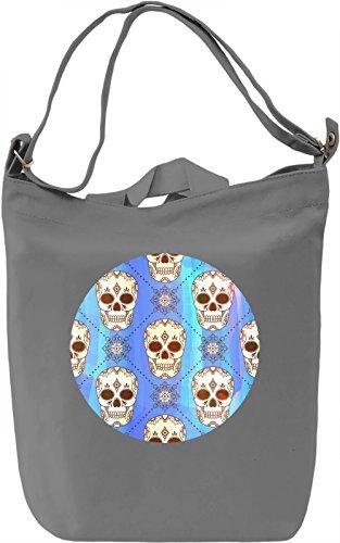 Gothic Skulls Borsa Giornaliera Canvas Canvas Day Bag  100% Premium Cotton Canvas  DTG Printing 
