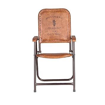 Indhouse - Silla Vintage Plegable de Estilo Industrial en ...