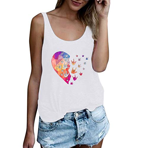 Drindf Womens Top Women's Summer Sleeveless Tops, Casual Ladies Tank Tops Size S-3XL 3D Print Sexy Vest T Shirt Blouse